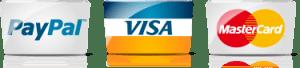 visa, matercard y paypal