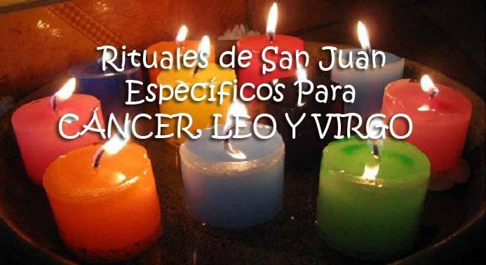 rituales para cáncer, leo y virgo
