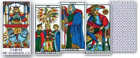 cinco cartas del tarot de marsella