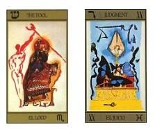 dos cartas del tarot dali
