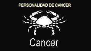 personalidad de cáncer