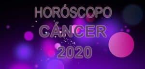 horóscopo cáncer 2020