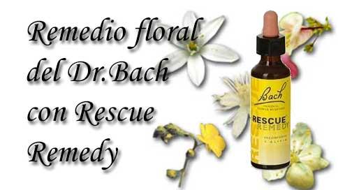 remedio floral con recue remedy