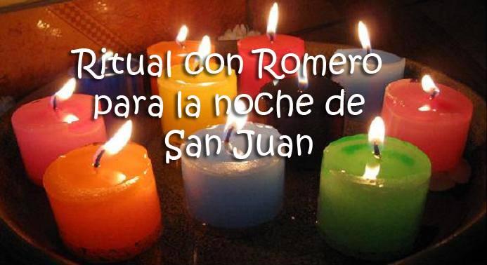 ritual con romero para la noche de san juan